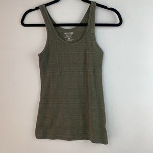 Mossimo Green Lace Ribbed Tank Top